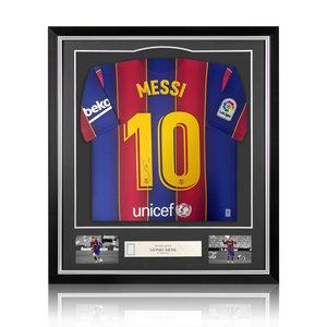 Lionel Messi maglia firmata FC Barcelona 2020-21 - incorniciata