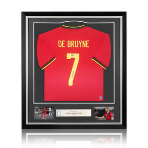 Kevin de Bruyne maglia firmata Belgio 2020-21 - incorniciata