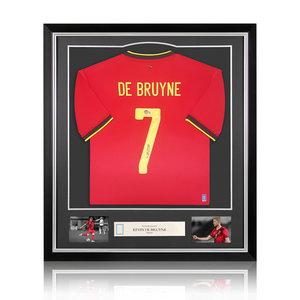 Kevin de Bruyne signed Belgium shirt 2020-21 - framed