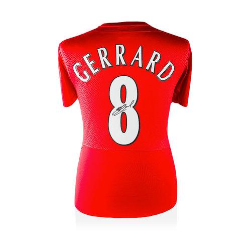 Steven Gerrard signed Liverpool shirt 2005