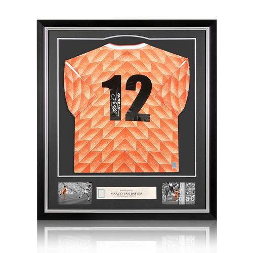 Marco van Basten maglia firmata Olanda 1988 - incorniciata