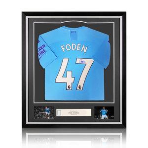 Phil Foden maglia firmata Manchester City  2019-20 - incorniciata