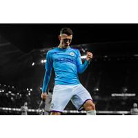 Phil Foden signed Manchester City shirt 2019-20 - framed