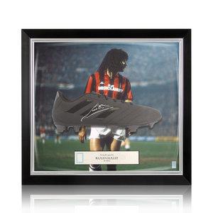 Ruud Gullit signed boot adidas - framed Milan