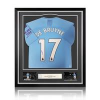 Kevin de Bruyne signed Manchester City shirt 2019-20 - framed