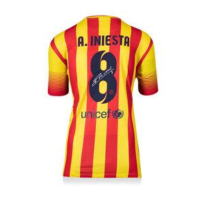 Andrés Iniesta maglia firmata Barcellona 2013-14
