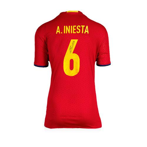 Andrés Iniesta signed Spain shirt 2016-17