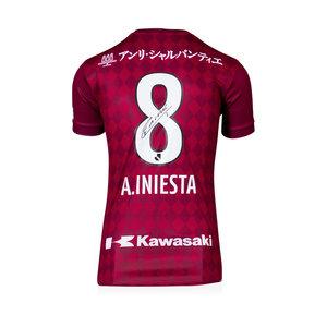 Andrés Iniesta maglia firmata Vissel Kobe 2016-17