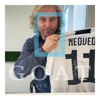 Pavel Nedved signed Juventus shirt 2018-19