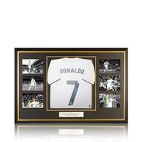 Cristiano Ronaldo signed Real Madrid shirt - framed