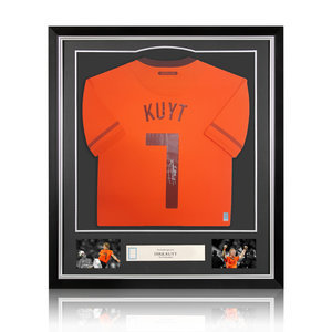 Dirk Kuyt maglia firmata Olanda 2010 - incorniciata