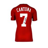 Eric Cantona signed Manchester United shirt 2019-20
