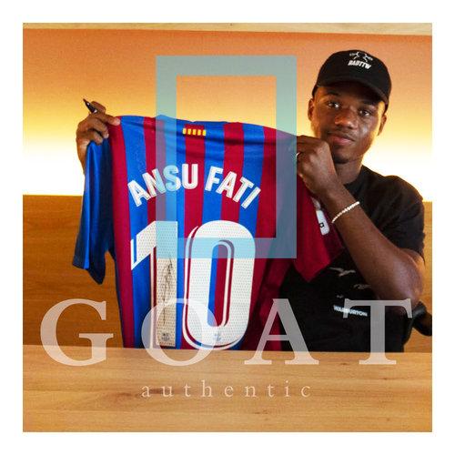Ansu Fati signed FC Barcelona shirt 2021-22