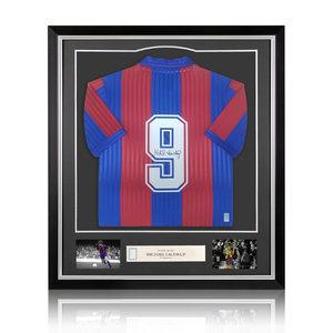 Michael Laudrup maglia firmata Barcellona 1992 - incorniciata