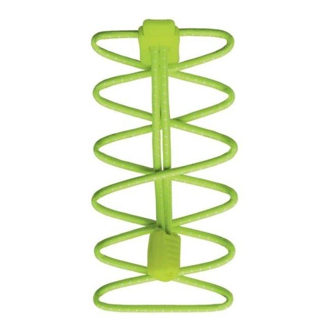 Nathan Run Laces elastische Schnürsenkel Grün
