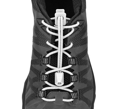 Lock Laces Nathan Run Laces Wit elastische veters