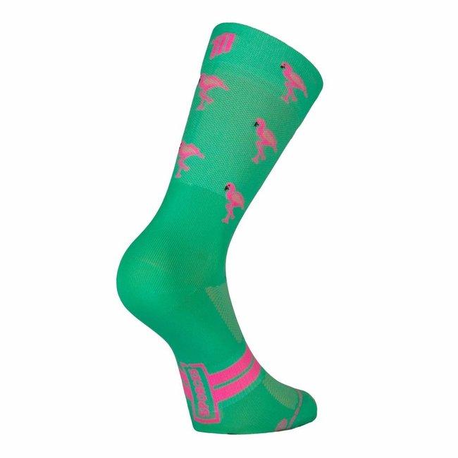 Sporcks Flamingo Green Ultraleichte Radsocken