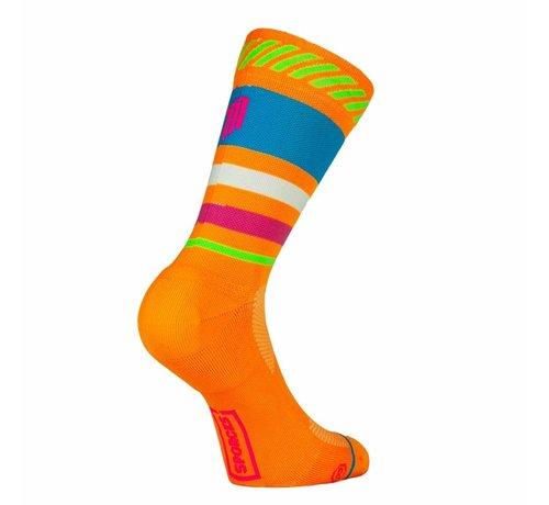 Sporcks Sporks Lima Limon Orange Running Socks