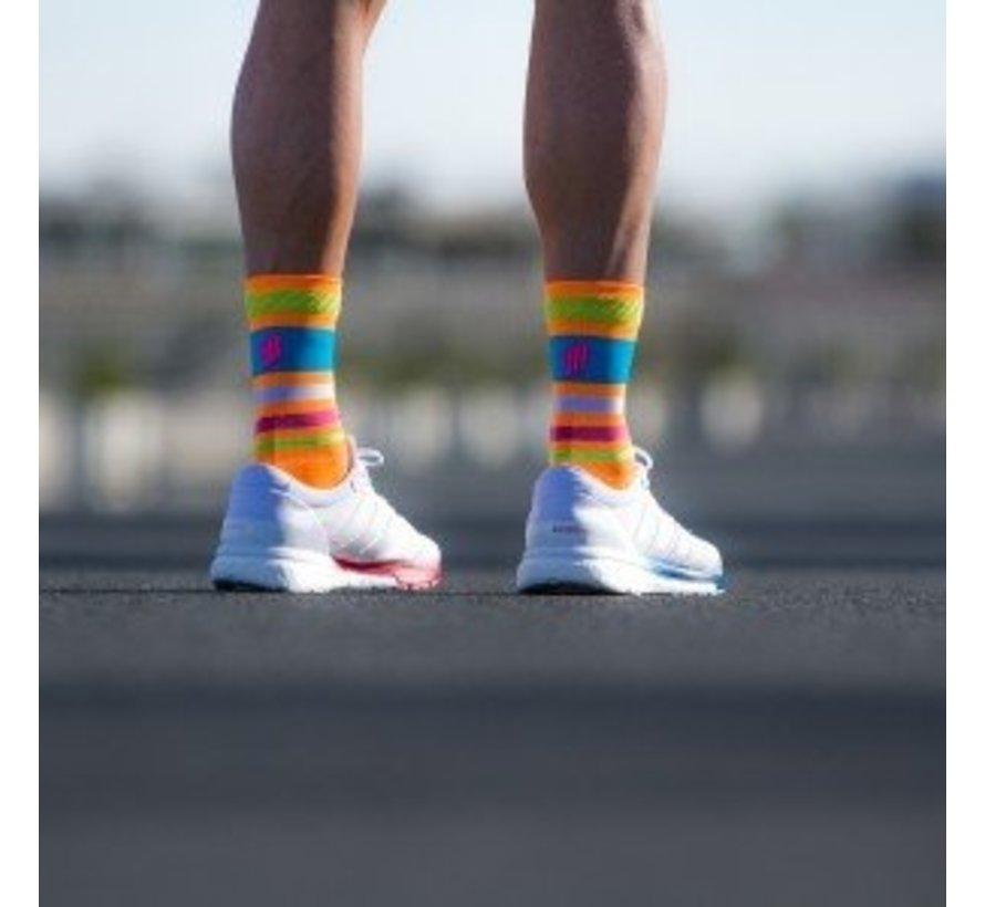 Sporks Lima Limon Orange Running Socks