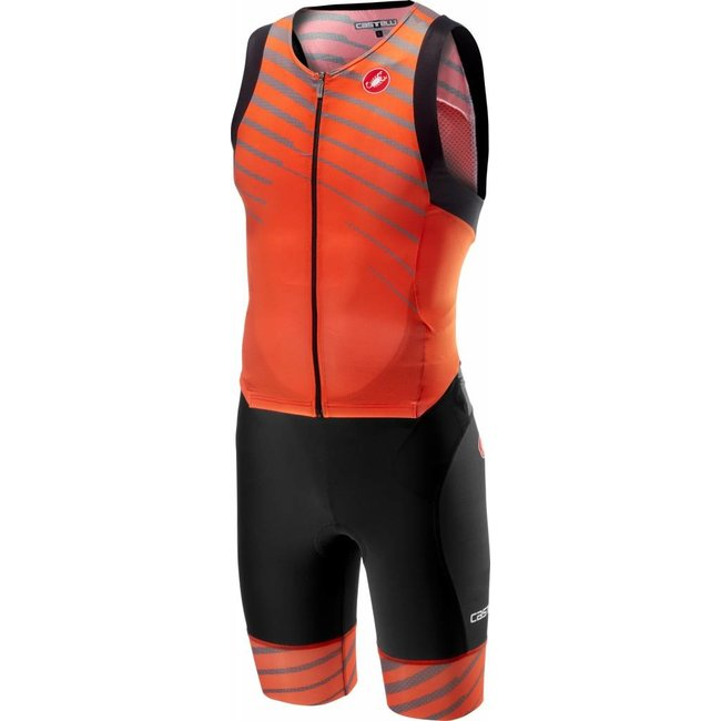 Castelli Free Sanremo Suit Sleeveless Oranje