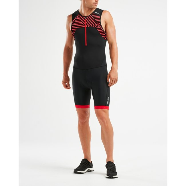 2XU Active Trisuit Heren Zwart/Rood