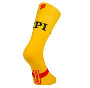 Sporcks Calcetines de ciclismo amarillos picantes Sporcks