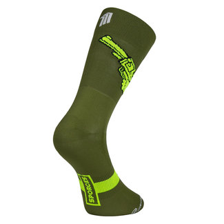 Sporcks Sporcks Gun Green Cycling Socks