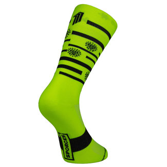 Sporcks Sporcks Splinders Hut Yellow Bicycle socks