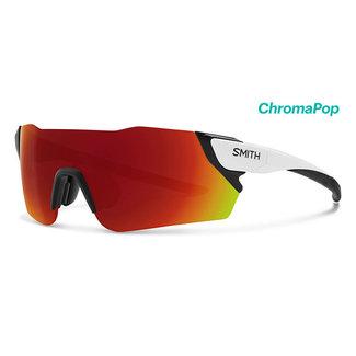 SMITH Smith Attack Radsportbrille mattweiß mit chroma-roter Linse