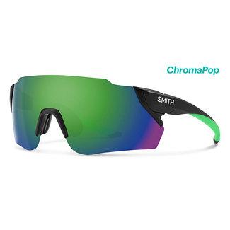 SMITH Occhiale da ciclismo Smith Attack Max nero opaco con lente Reactor Chroma Green