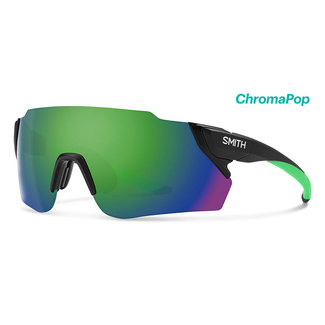 SMITH Smith Attack Max cycling glasses matt black with Reactor Chroma Green lens