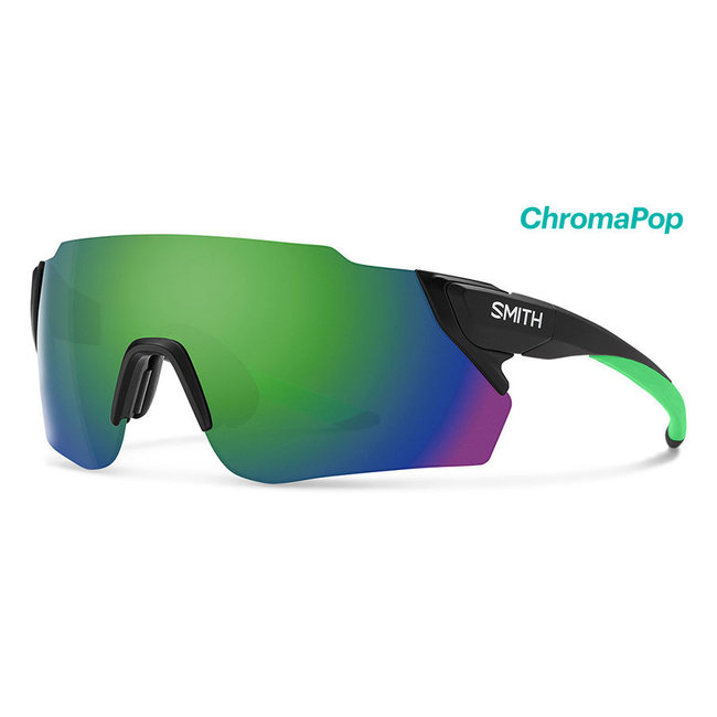 Smith Attack Max fietsbril mat zwart met Reactor Chroma Green-lens