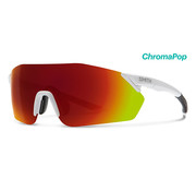 SMITH Smith Reverb-Radbrille Mat-White mit roter Chroma-Linse