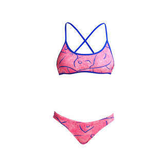 Funkita Funkita Cross Back Tie bikini + broekje Rock Salt