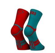 Sporcks Calcetines de triatlón azul Sporcks Tri Love Six Seconds rojo