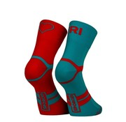 Sporcks Sporcks Tri Love Six Seconds Rood Blauw Triathlonsokken