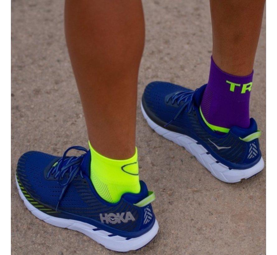 Sporcks Tri Love Six Seconds Yellow Purple Triathlon socks