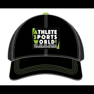 AthleteSportsWorld.com Gorra ASW Boco Technical de camionero negra