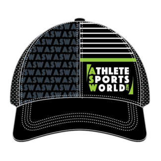 AthleteSportsWorld.com ASW Boco Technical Trucker Cap Black-Gray