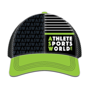 AthleteSportsWorld.com Gorra ASW Boco Technical de camionero negro - Verde