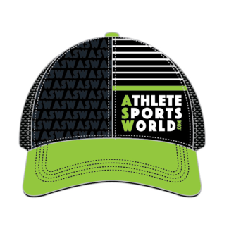 AthleteSportsWorld.com ASW Boco Technical Trucker Cap Black - Green