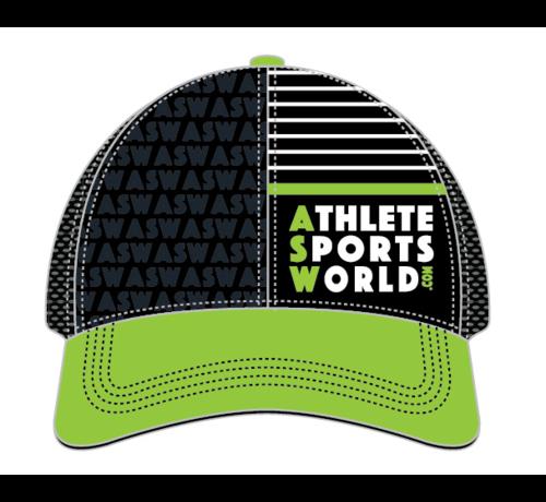 AthleteSportsWorld.com ASW Boco Technical Trucker Cap Black - Green