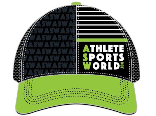 AthleteSportsWorld.com ASW Boco Technical Trucker Cap Zwart - Groen