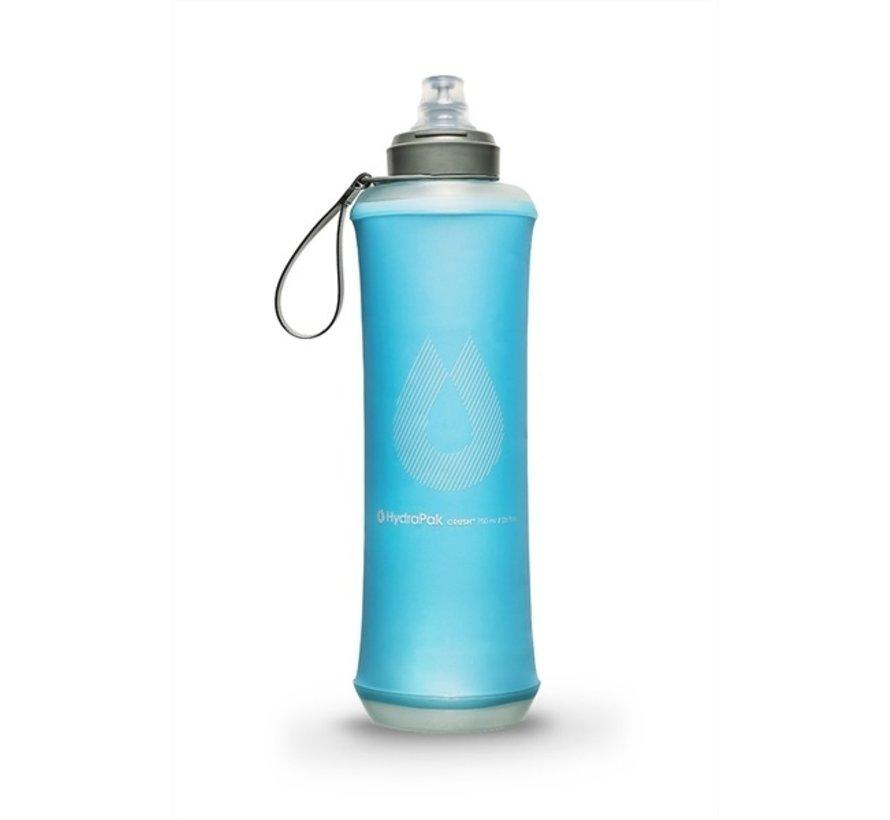 Hydrapak CRUSH BOTTLE 750ml Trinkflasche Malibu Blue