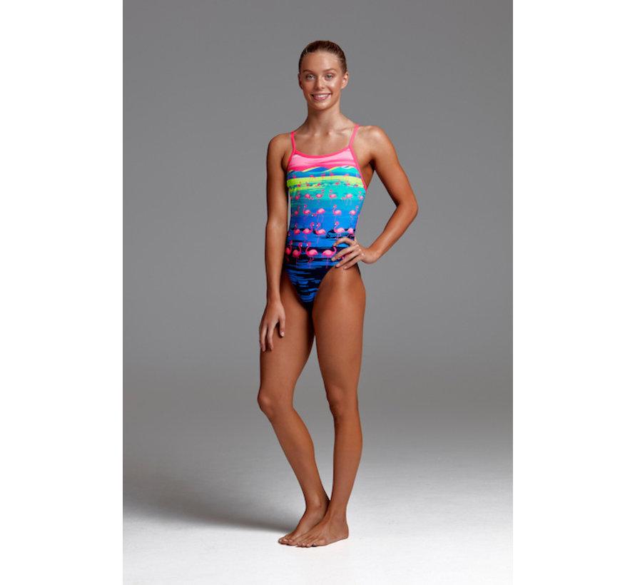 Schwimmanzug f/ür das Schwimmtraining Funkita Badeanzug Flamingo Flood M/ädchen