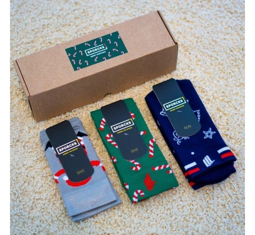 Sporcks Christmas Pack Run y medias de ciclismo