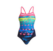 Funkita Funkita One Piece Single Strap Damen One Flamingo Flood