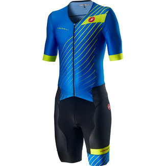 Castelli Castelli Free Sanremo Trisuit Short Sleeve Heren Blauw