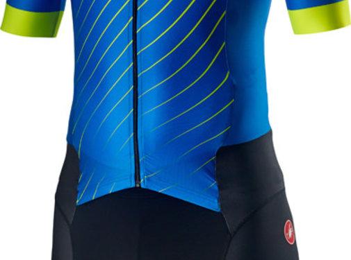 Castelli Castelli Free Sanremo Trisuit Short Sleeve Blauw
