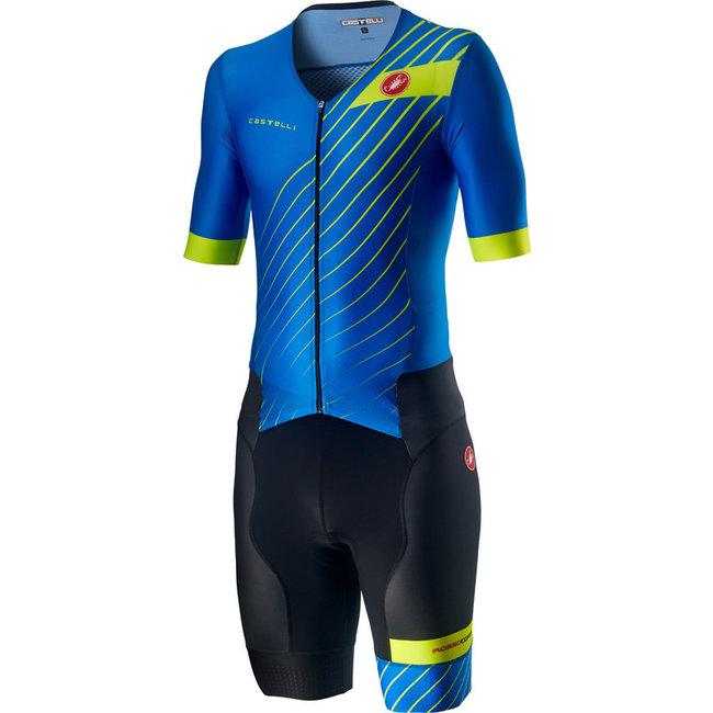 Castelli Free Sanremo Trisuit Short Sleeve Heren Blauw